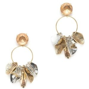NWT J. Crew Petal Hoop Earrings